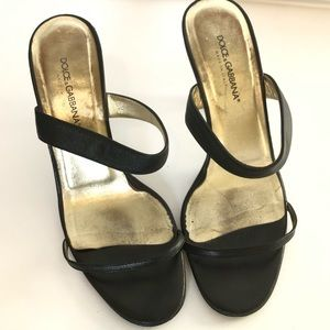 ef5203c76bb Dolce & Gabbana Two Strap Heels with Clear Heel